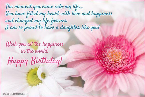Facebook Happy Birthday Daughter Cards