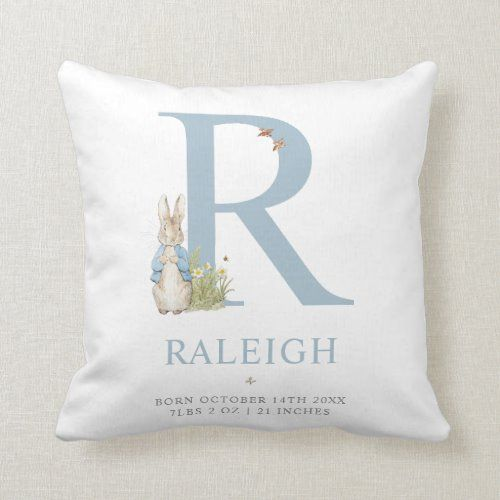 Peter Rabbit Personalized Letter R Throw Pillow Zazzle Com Throw Pillows Personalized Gifts For Kids Personalized Letters