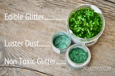 Differences Between Non Toxic Glitter, also called Disco Dust & Pixie Dust, and Edible Glitter at Love From The Oven