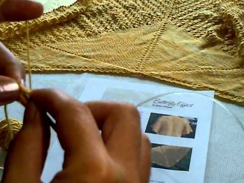 Butterfly Effect - shawl. Iwona Eriksson || Jak zacząć chustę na drutach. - YouTube