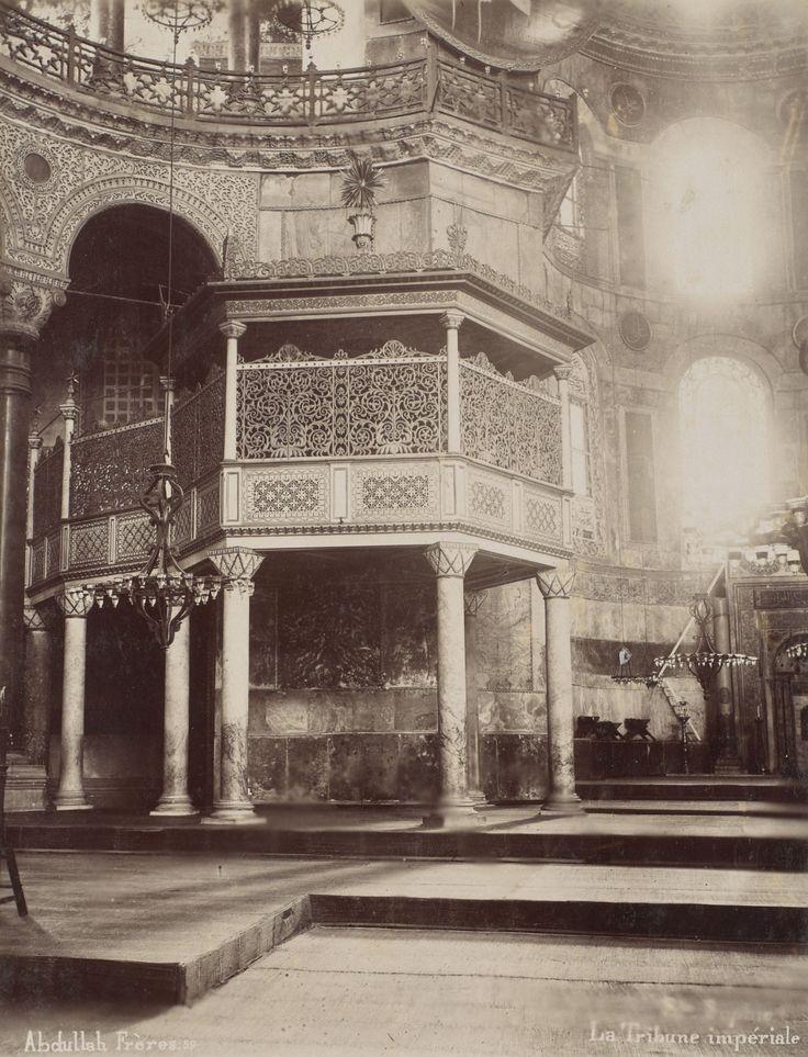 Ayasofya İç Görünümü Abdullah Fréres / 1880