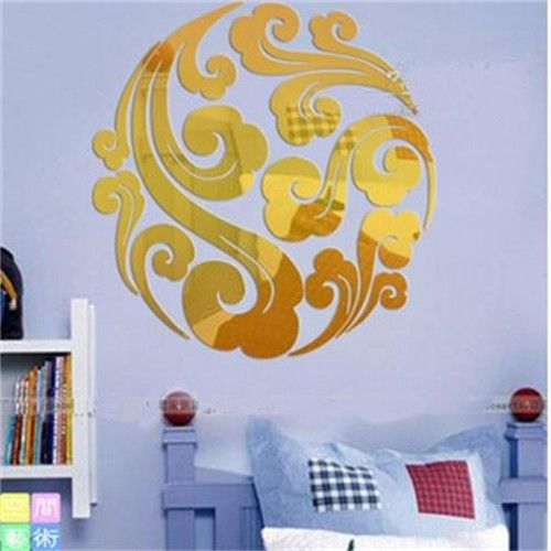 Free shipping new on sale diy weathy flower noble fanily golden home decoration 1MM thick acrylic material wall mirror stickers *** AliExpress Affiliate's buyable pin. Click the image to visit www.aliexpress.com