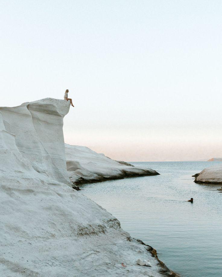 Sarakiniko white beach in Milos, Greek Islands via Find Us Lost | A Travel Blog