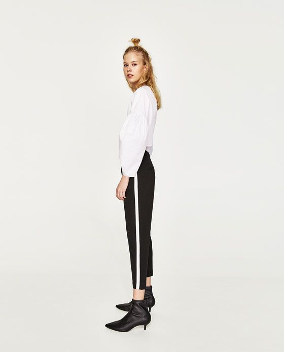 Image 4 of CHINO TROUSERS WITH SIDE STRIPE from Zara