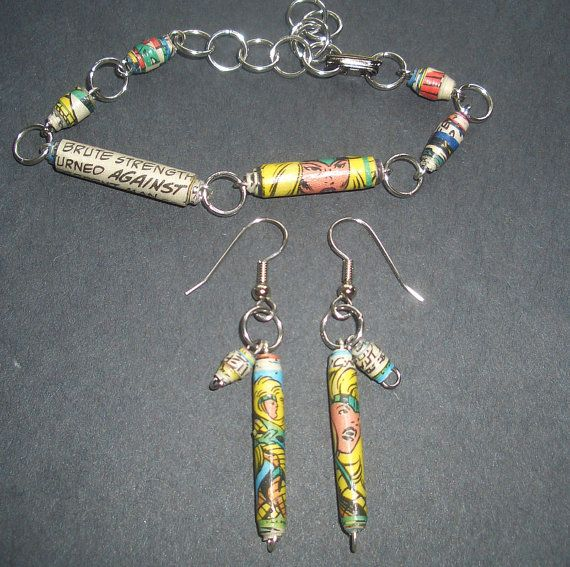 The 25 best paper bead jewelry images on pinterest bead jewellery marvel xmen recycled paper bead bracelet and by reinnovations 2400 fandeluxe Choice Image