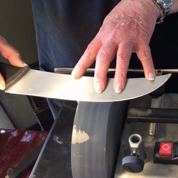 Many cooking supply stores offer professional sharpening services at a reasonable price. This is helpful if you have older knives that need some serious attention or for knives that haven't been sharpened in a very long time.