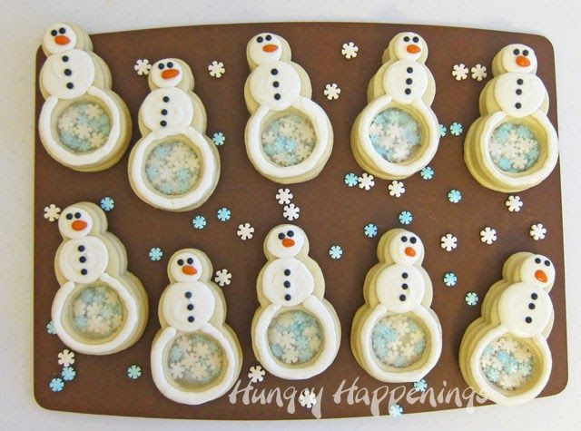 Snowmen Pinata Cookies filled with Snowflakes