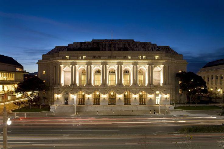 The War Memorial Opera House in San Francisco, California, designed by Arthur Brown, Jr.