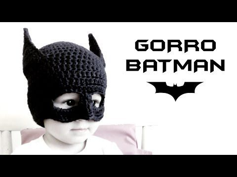 Gorro de BATMAN a Crochet (todas las tallas) | How to crochet a Batman beanie - YouTube