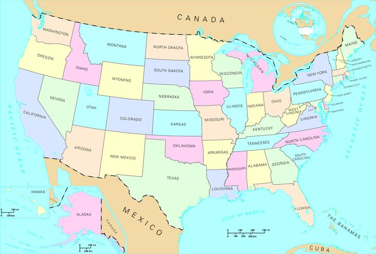 The Most And Least Expensive States In America States - Usa map with all states