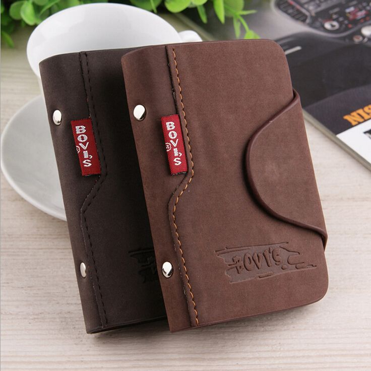 Fashion Women's Men's Cowhide Leather Card ID Holders Vintage Hasp Design PU Credit Card Holder <3 Find similar products by clicking the image