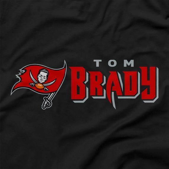 Tom Brady Shirt Tampa Bay Buccaneers Flag Logo Parody Black Etsy In 2020 Tampa Bay Buccaneers Tom Brady Buccaneers