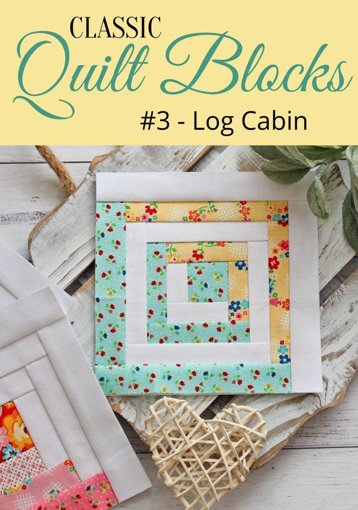 {Classic Quilt Blocks} Log Cabin – A Tutorial (Threadbare Creations)