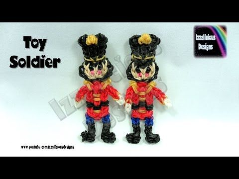 Rainbow Loom (Christmas/Xmas) Nutcracker Toy Soldier Action Figure/Charm/Ornament - YouTube