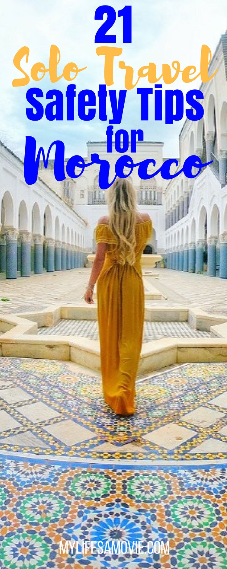 Morocco gets a bad stereotype of being unsafe, especially for women, but I just traveled solo there for two weeks, and can say it's definitely safe...and beautiful! I'm also a professional solo traveler, so here are all of my tips I've created from my experience to help you travel solo safely in Morocco!