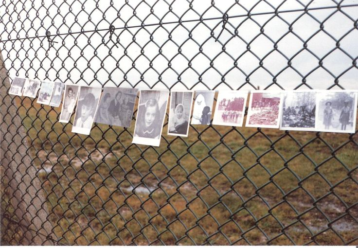 Greenham Common 12 Dec 1982 30,000 women joined hands in peaceful protest to 'embrace the base' These are photos of loved ones whom women wanted to protect from nuclear warfare.