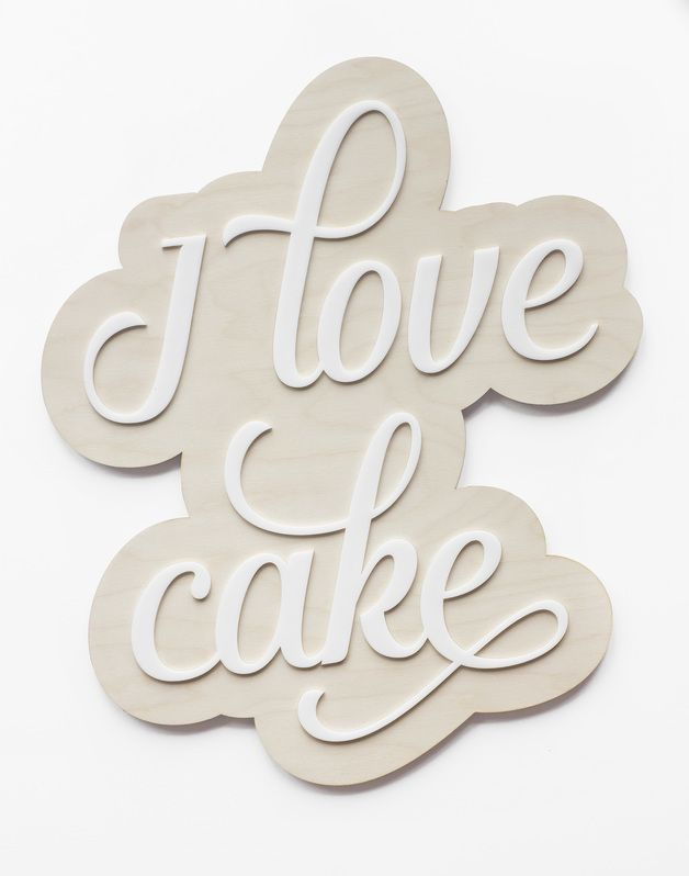 Napis na ścianę I love cake - METHOD_SHOP - Litery i napisy