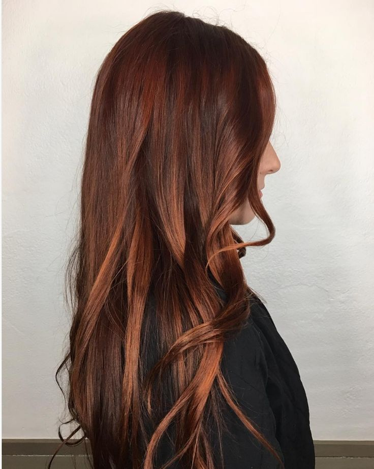 Rich dark auburn red Aveda hair color from Julian August Aveda salon has us seriously excited about trying a new shade.