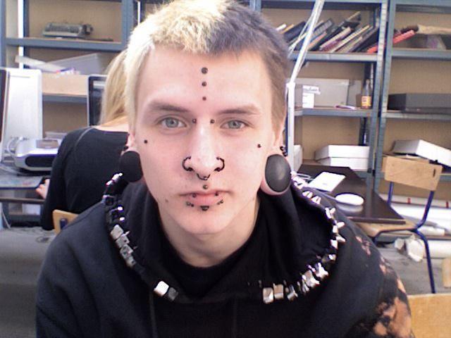 Half Blonde Half Black Dyed Saved Punk Guy Hair Punks