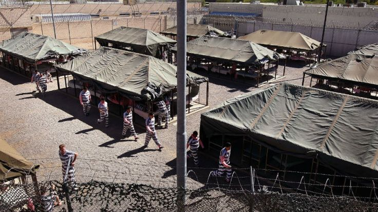 """Jane Sanders Visits AZ Sheriff Joe Arpaio's Infamous Tent City Jail, Calls It 'Inhumane'   The Slot   """"Jane O'Meara Sanders—social worker, academic, wife of Bernie—took a trip yesterday to see the infamous 'tent city' jail where Maricopa Co Sheriff Joe Arpaio has been allowed to house inmates since 1993. Arpaio says he gave her a tour; Sanders says the sheriff 'showed up unexpectedly' while she was there & proved unable to answer questions about the facility."""" Click to read & share."""