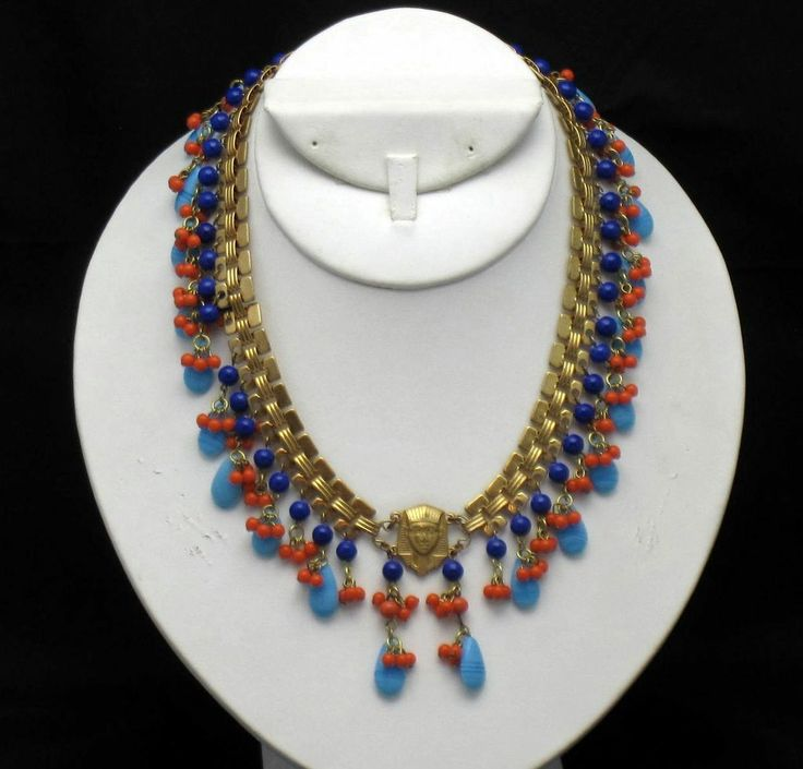 29 best egyptian jewelry images on pinterest egyptian jewelry miriam haskell 70s egyptian revival king tut vrba collar necklace beautiful name designer jewelry fandeluxe Images