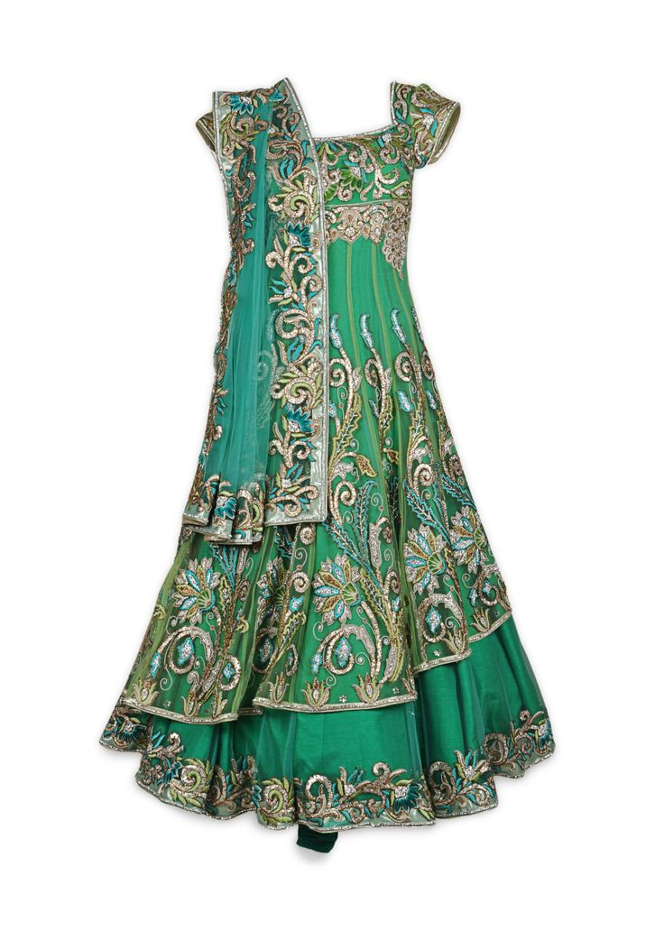Featuring this beautiful Light & dark Green Anarkali in our wide range of Suits. Grab yourself one Now!
