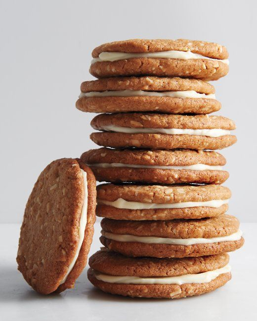 Whole-Wheat Almond-Butter Sandwich Cookies Recipe