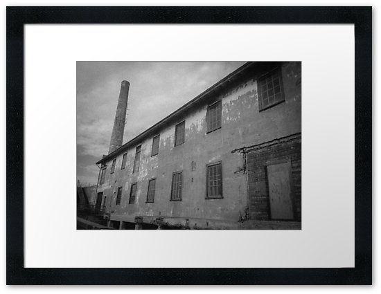 """Alcatraz Ruins: Storehouse and Power Plant Chimney"" Framed Prints by ThreeEyedKat | Redbubble"