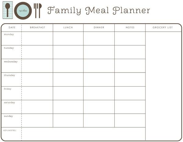 Best 25+ Family meal planner ideas on Pinterest | Meal planner ...