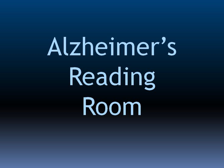 Alzheimer's Reading Room News October 20 Alzheimers Care