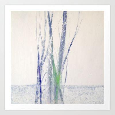 """""""White landscape"""" Art Print by Patrizia Biaducci - $17.68"""