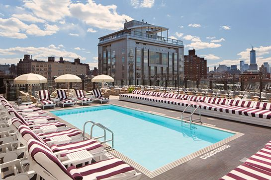 The 10 BEST Rooftops In NYC #refinery29 http://www.refinery29.com/71229#slide-8 Soho House Always a win-win in terms of a great vibe, good company, and fabulous music (especially in summer). Being poolside also helps. Soho House New York, 29-35 Ninth Avenue (between West 13th and West 14th streets); 212-627-9800.