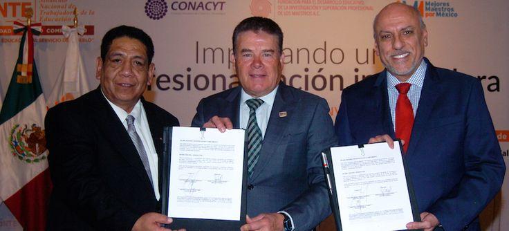El Conacyt y Sinadep firman convenio de colaboración