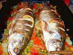 Peste cu legume la cuptor   Papamond Baked fish with vegetables #fish, #vegetables