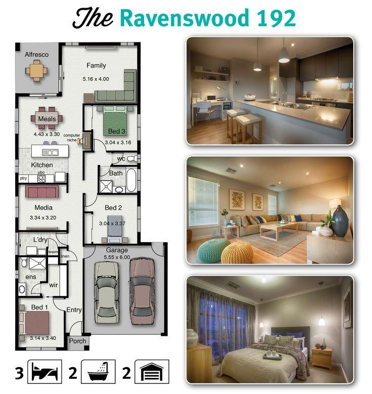 Hotondo Homes Ravenswood 192 Is A Home Suitable To Most Narrow Blocks Of Land House BuildingBuilding IdeasHouse Floor PlansHouse DesignHousing