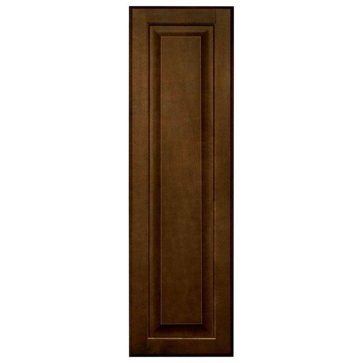 10x33.375x0.625 in. Hampton Decorative End Panel in Cognac (Red)