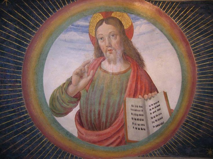 Cagli_-_Cappella_Tiranni_-_Cristo_in_gloria_benedicente_-_Sottarco_-.jpg Фрески Капеллы тиранов в ц. Св. Доменика в Кальи (ок. 1490)