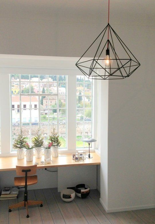 This diamond HImmeli light from Etsy seller Panselinos is as affordable as it is cool. $195.  |    Black Out: Chic Black Pendant Lights