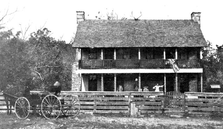 Battle of Pea Ridge, 1862, also known as the Battle of Elkhorn Tavern.  This is the tavern that was near the center of the battle.  It was fought in Northwest Arkansas, near the Missouri border. It was the first Federal invasion of Arkansas, part of the wider plan to cut the Confederacy in half.  Little Rock was captured later in 1862  Pea Ridge would be the largest battle west of the Mississippi River..- Encyclopedia of Arkansas