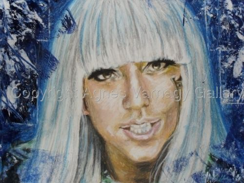 Portrait of Lady Gaga by Agnes Varnagy Gallery