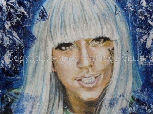 Portrait of Lady Gaga by Agnes Varnagy Gallery