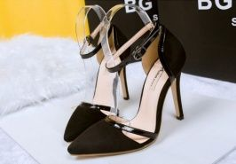 Fashion All Match Hit Color Hasp Pointed Pumps Black