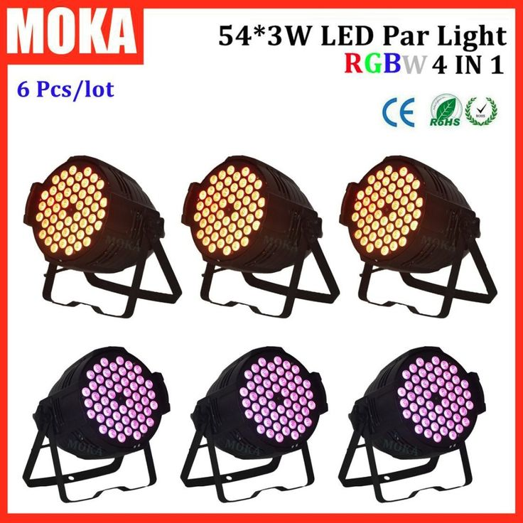 660.00$  Watch here - 6 Pcs/lot 54*3W par led rgbw flashlight party lights for stage/studio/theatre/dyeing/effects stage lighting for sale   #magazineonlinebeautiful