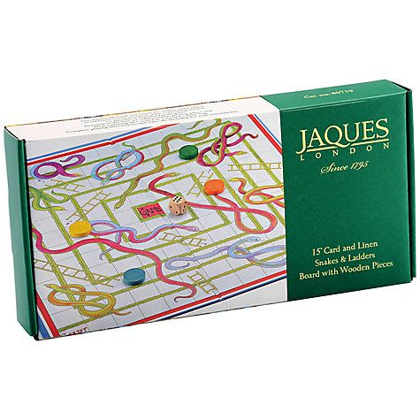 """Buy Jaques Snakes and Ladders 15"""" Board Game Online at johnlewis.com"""