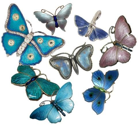 Talisgirl Charms 'Bloutjie Butterfly' charm joining a long tradition of silver and enamel (and one real wing) jewellery butterflies.
