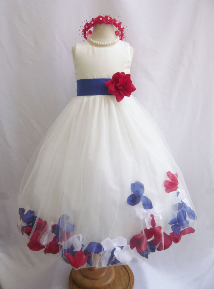 4th of july flower girl dresses