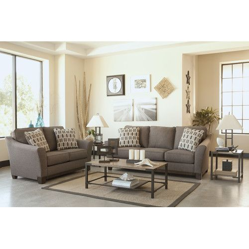 Signature design by ashley janley 7 piece living room set for 6 piece living room furniture sets