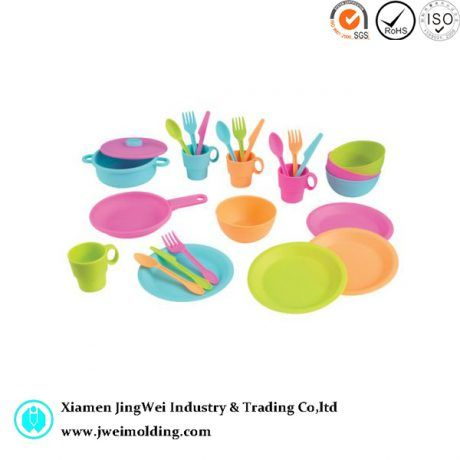 molded injection plastic Toys Cookware and Dining Set