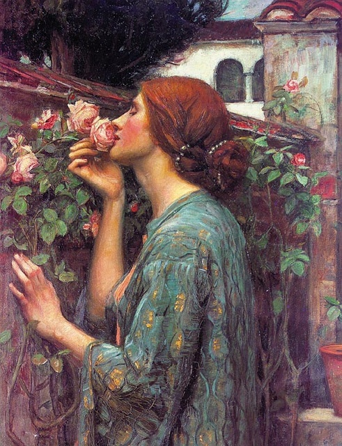 Woman with a Rose ~ John William Waterhouse