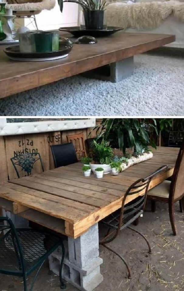 47 Good Diy Cinder Block Furniture And Decor Ideas Mobilier De Parpaing Bricolage En Beton Mobilier De Salon